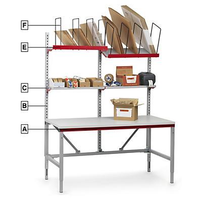 Pack poste d'emballage complet System Flex de Hüdig+Rocholz##Kit volledige paktafel System Flex van Hüdig+Rocholz