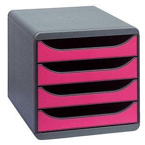Klasseermodule Big Box classic Exacompta kleur muisgrijs/framboos