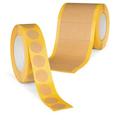 Pastille et bande adhésive en papier##Klebestreifen und -punkte aus Papier