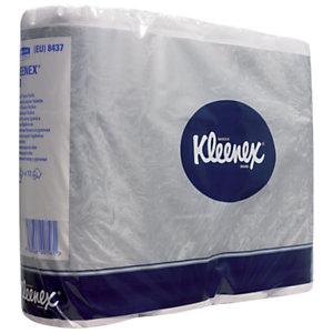 Kleenex® 200 Standard, rouleau de papier toilette, double épaisseur, 200feuilles, 95mm, blanc
