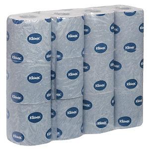 Kleenex® 250 Rotolo di carta igienica standard, 2 veli, 250 fogli, 95 mm, Bianco (confezione 12 rotoli)