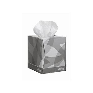 Kleenex® Collection Cubo Veline cosmetiche, 2 veli, 90 fogli, 200 x 210 mm, Bianco