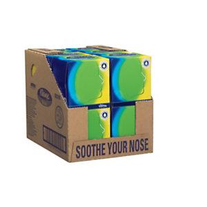 Kleenex® Pañuelos faciales de tres capas con bálsamo protector en dispensador 200 x 200 mm blanco Cubo de 56 servicios
