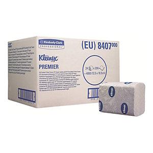 Kleenex® Premier Fogli di carta igienica piegati, 2 veli, 200 fogli, 125 mm, Bianco