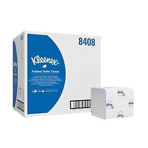 Kleenex® Ultra Fogli di carta igienica piegati, 2 veli, 200 fogli, Bianco