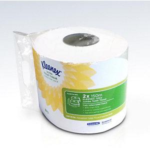 Kleenex® Ultra Jumbo Rotolo di carta igienica, 1 velo, 76 fogli, 95 mm, Bianco