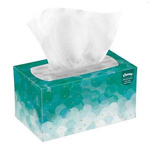 Kleenex® Ultra Soft Pop-Up, essuie-mains en papier pliés simple épaisseur, enchevêtrées, 70feuilles, 225mm, blanc