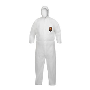 KLEENGUARD* A40 Mono de protección con capucha blanco extragrande