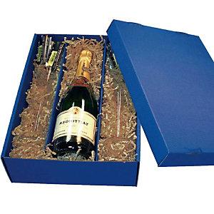 KNAUER 10 Caissettes pour bouteille de vin bleu