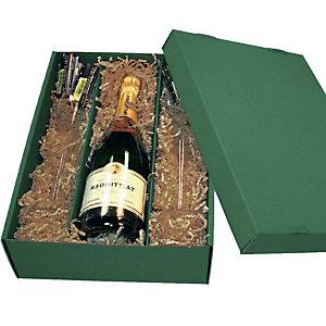 KNAUER 10 Caissettes pour bouteille de vin vert