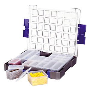 Koffer met deksel, 21 compartimenten