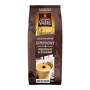 Koffie in bonen Jacques Vabre Symphony, mix van robusta/ arabica, pak van 1 kg