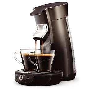 Koffiezetapparaat met doseringen SENSEO® Viva Café zwart en beluga (een ontkalker Senseo aangeboden)