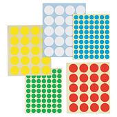 Kolorowe etykiety okrągłe arkusz A5