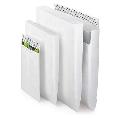 Konvolutter med åpning kortside uten belg - Tyvek®