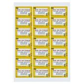 Kopi- og printeretiketter med klæb - 100 ark
