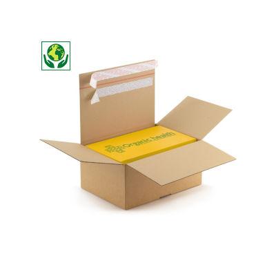 Krabice s automatickým dnem a dvojitým samolepicím proužkem