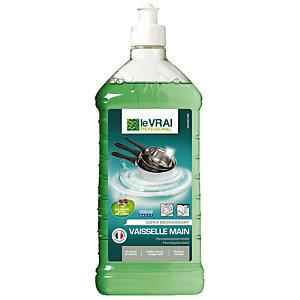 Krachtig ontvettend HACCP-afwasmiddel Le Vrai, fles van 1 L