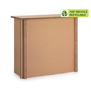 KRAFTDESIGN Comptoir d'accueil H. 94 x L. 80 cm en carton alvéolaire - Kraft naturel  L 80 x P 37 x H 94 cm