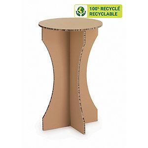 KRAFTDESIGN Mange-debout diam. 60 cm en carton alvéolaire - Kraft naturel