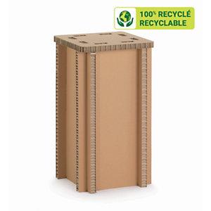 KRAFTDESIGN Tabouret haut H. 75,5 cm en carton alvéolaire - Kraft naturel