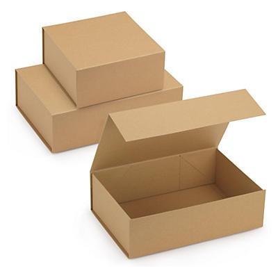 Boîte cadeau kraft avec fermeture aimantée##Kraftpapier-Geschenkboxen mit Magnetverschluss