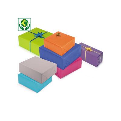 Kraftpapier in heldere kleuren op rol