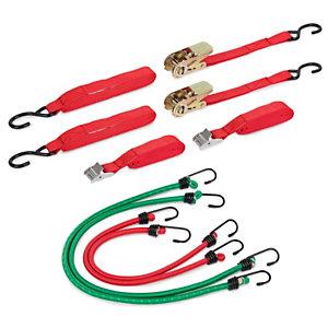KREATOR KRT555004 Cinchas y pulpos elásticos de sujeción, 8 piezas