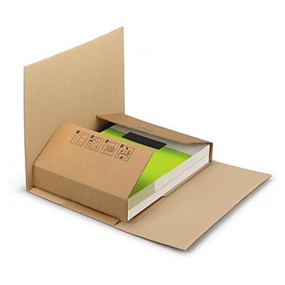 Étui-croix en carton pour livres ECOBOOK##Kreuzbuchverpackung, braun