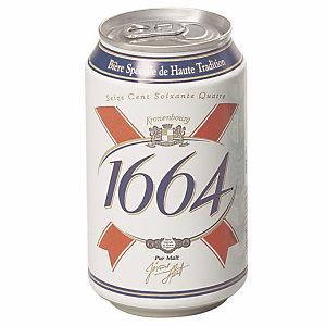 Kronenbourg® Bière 1664  - 33 cl (Lot de 24 canettes)