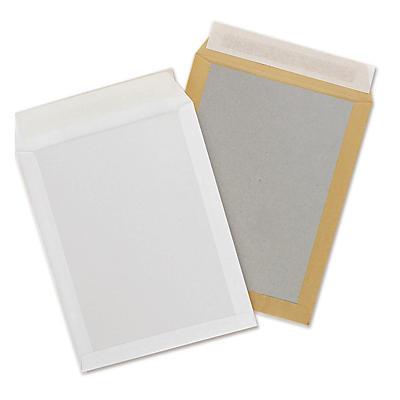 Kuvert med papbagside - Hvid