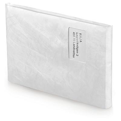 Kuvertpåse med bälg och öppning på kortsida - Tyvek®