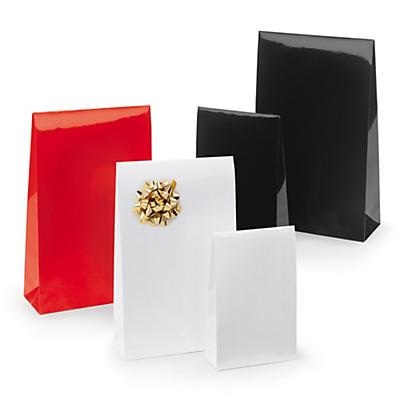 Lackade presentpåsar - Extra glansiga i kraftigt lackat papper