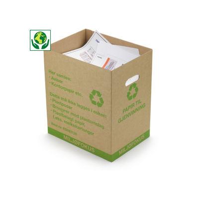 Låda för returpapper för daglig återvinning av kontorspapper