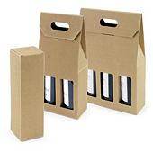 LAGERSALG - Brune gaveesker for vinflasker
