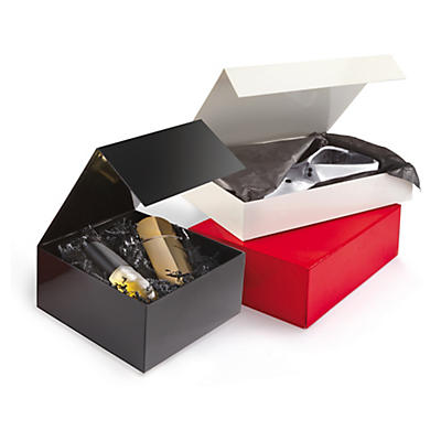 Boîte pliante avec fermeture aimantée##Lakpapieren doos met magnetische sluiting