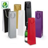 Lakpapieren draagtassen voor flessen