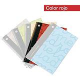 Lamela Lamela Cuaderno, 4º, cuadrovía y cuadrícula 3 x 3 mm, 80 hojas, cubierta blanda cartón plastificado, rojo