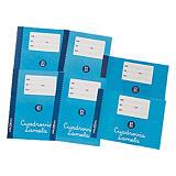 Lamela Lamela Cuaderno básico, 4º apaisado, cuadrovía cuadrícula 8 x 8 mm, 16 hojas, cubierta blanda cartón, azul