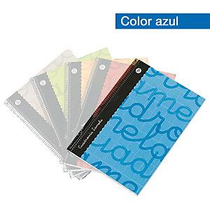 Lamela Lamela Cuaderno, Folio, pauta cuadrovía 4 mm, 80 hojas, cubierta blanda cartón plastificado, azul