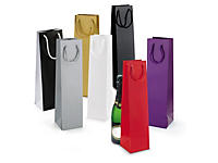 Laminated bottle gift bags