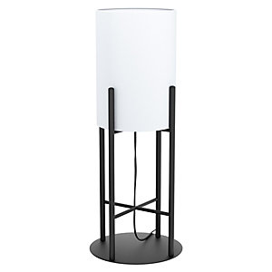 Lampada da tavolo Glastonbury, struttura Nero, diffusore Bianco