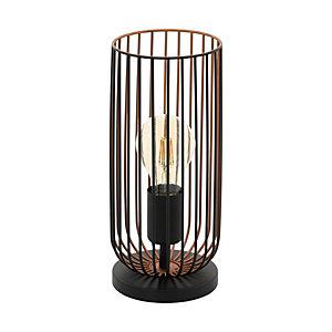 Lampada da tavolo Roccamena, struttura Nero/Rame