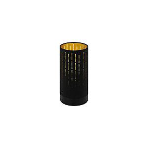 Lampada da tavolo Varillas, struttura Nero, diffusore Nero/Oro