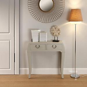 Lámpara de pie Rondo, pantalla marrón, 30 x 148 cm.