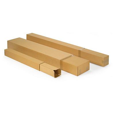 Caisse carton brune longue télescopique##Lange Kartons mit Teleskopdeckel und Öffnung an der Stirnseite