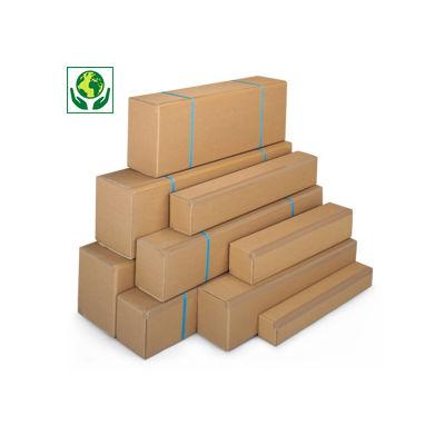 Lange Kartons RAJABOX mit Öffnung an der Längsseite, 1-wellig, braun