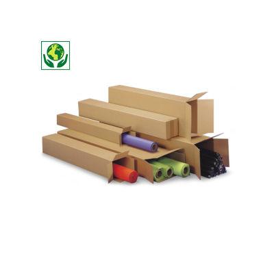 Lange Kartons RAJABOX mit Öffnung an der Stirnseite, 1-wellig