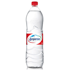 Lanjaron Agua mineral sin gas, botella de plástico