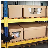 Large cardboard storage bins with lids